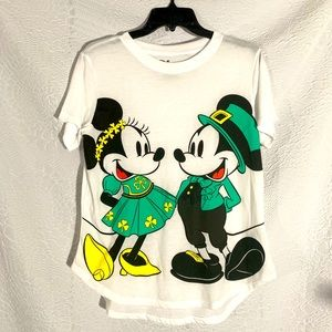 NWT Disney Mickey Minnie St. Patrick's Day T-Shirt